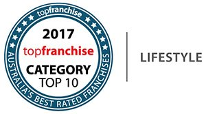 Badge for being a Top 10 Franchise for Lifestyle Awarded from topfranchse 2017